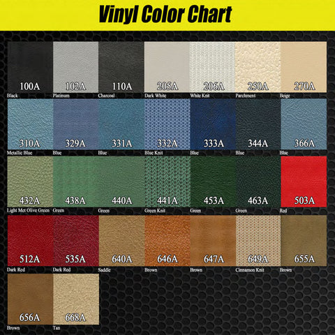 Seat Cover Set, Bucket, Corduroy Cloth, 1970 AMC Javelin SST (5 Colors)