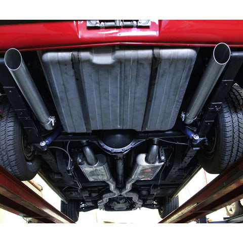 "Full Exhaust System For American Racing Headers Only, 3"", Stainless, American Racing Headers, 1968-70 AMC AMX"