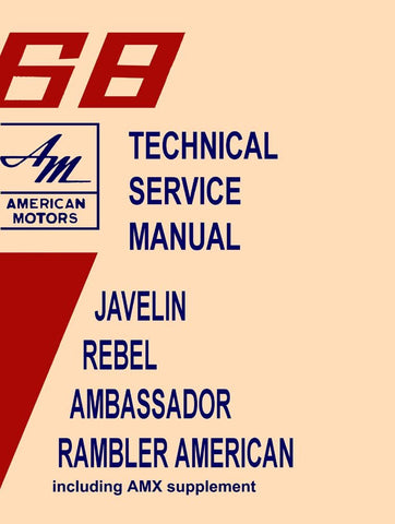Technical Service Manual, Factory Authorized Reproduction, 1968 AMC