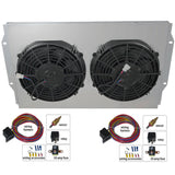 Cooling Fan Master Kit, Dual Electric, For Champion Aluminum Radiators, 1958-88 AMC, Rambler