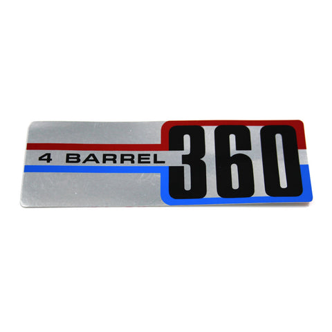Air Cleaner Decal, 360 4-Barrel, 1972-91 AMC, Jeep