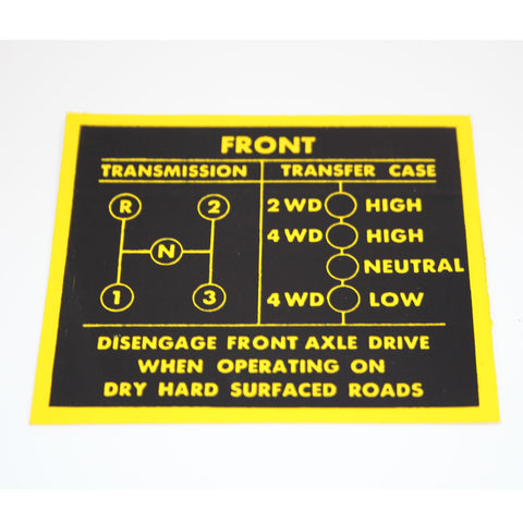 Decal and Stripe Kit, Factory Authorized Reproduction, 3-Speed Shift Pattern, 1979-80 AMC Jeep