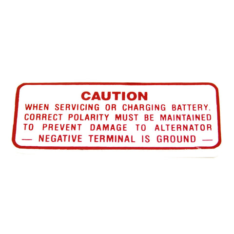 Battery Caution Decal, 1964-67 AMC, Rambler - AMC Lives