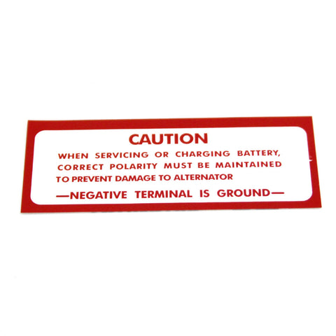 Battery Caution Decal, 1968-1978 AMC - AMC Lives
