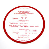 Tire Pressure Decal, 1968-1970 AMX, Javelin