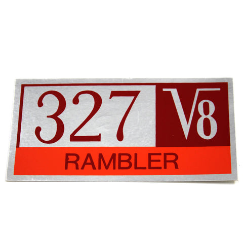 "1965 AMC 327 V8 ""Rambler"" Valve Cover Decal"