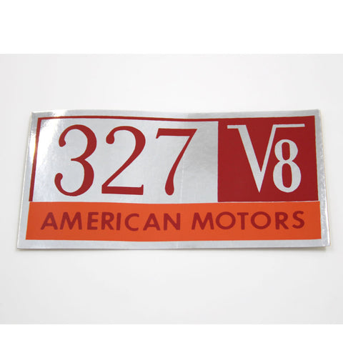 "1966 AMC 327 V8 ""American Motors"" Valve Cover Decal"