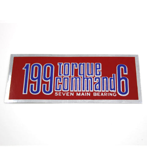 1967-70 AMC 199 Torque Command 6 Air Cleaner Decal