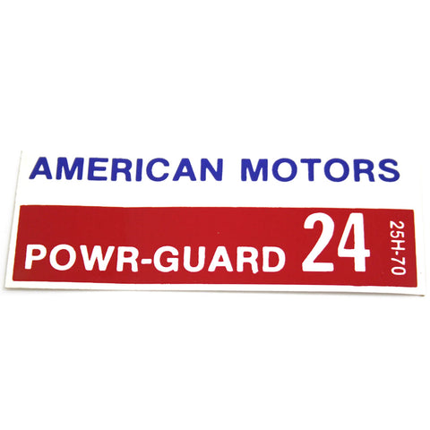 Battery Decal, Power Guard 24, 1966-68 AMC - AMC Lives