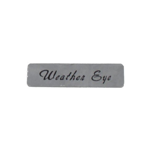 Heater Vent Decal, Weather Eye, 1967-69 American