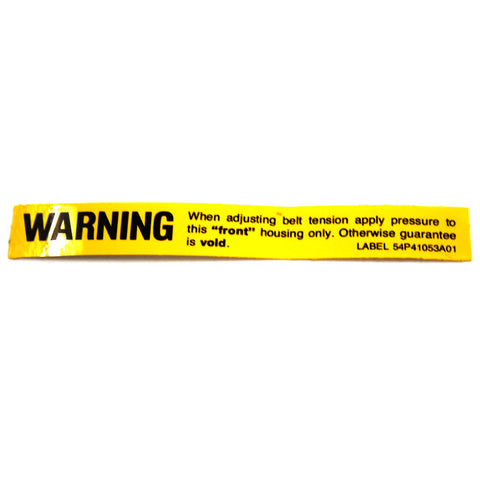 Alternator Warning Decal, 54P41053A01, 1963-65 Rambler - AMC Lives