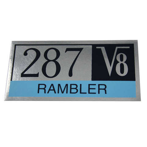 Valve Cover Decal, 1965 Rambler 287 V8