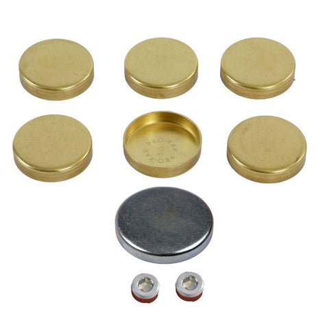Brass & Galvanized Steel Freeze Expansion Plug Kit, 9-Piece Kit, 1964-88 AMC & 1965-91 Jeep 6 Cylinder