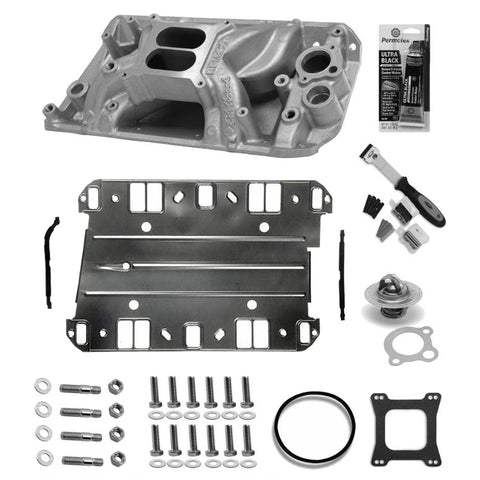 Intake Manifold Master Kit, Edelbrock RPM Air Gap, Satin, 1966-69 AMC, Jeep V8 (3 Variations) - AMC Lives