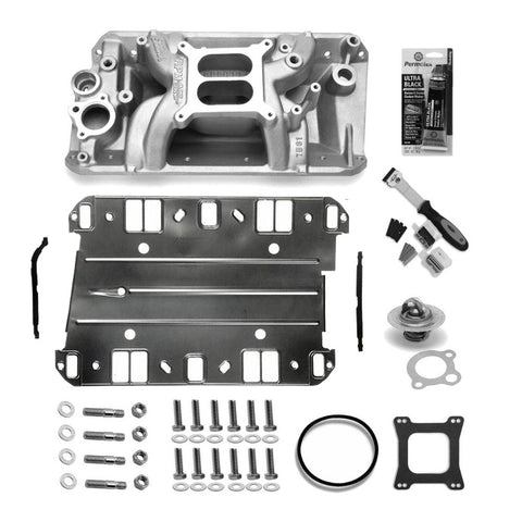 Intake Manifold Master Kit, Edelbrock RPM Air Gap Aluminum, Satin, 1970-91 AMC, Jeep V8 (3 Variations) - AMC Lives
