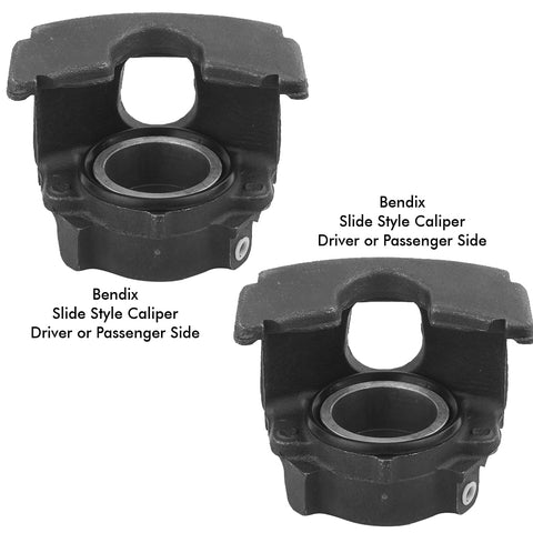 1974-1980 AMC/Jeep All-New Single Piston Bendix Style Front Disc Brake Caliper Set w/Lifetime Warranty - NO Core Required
