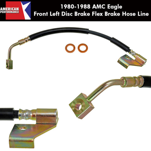 Disc Brake Hose, Front Left, 1980-88 AMC Eagle - AMC Lives