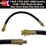 Drum Brake Hose, Rear, 1968-70 AMC AMX/Javelin, Gremlin, Hornet, 1948-58 Hudson/Nash