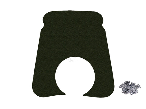 1971-74 AMC Javelin, Javelin AMX Hood Insulation Pad & Clips (w/Cowl Induction)