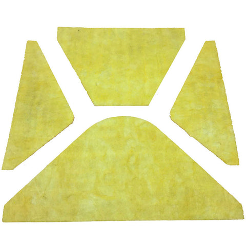 Hood Insulation Pad, Yellow, 1961 AMC Ambassador