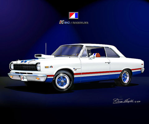 "1969 AMC Hurst SC Rambler 16""x20"" Fine Art Print by Danny Whitfield (A & B Color Schemes)"