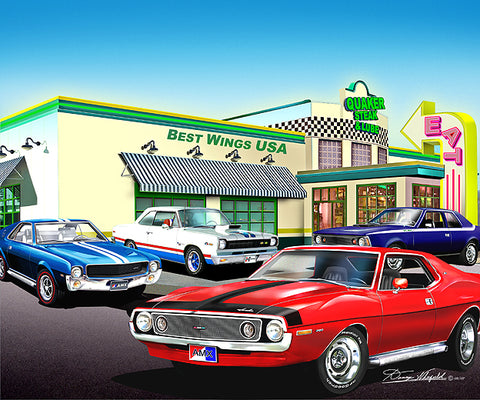 "AMC Special Edition 16""x20"" Fine Art Print by Danny Whitfield - Quaker Steak & Lube"