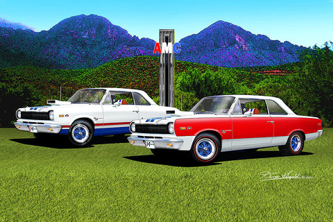 "Fine Art Print, AMC Special Edition 20""x30"", By Danny Whitfield - The Rambler Rebels Arizona Edition - AMC Lives"