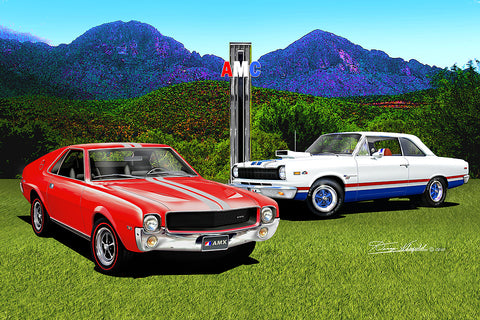 "Fine Art Print, AMC Special Edition 20""x30"", By Danny Whitfield - Johnny Lightning In Arizona - AMC Lives"