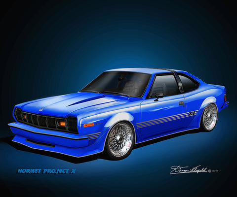 "Fine Art Print, 1977 AMC Hornet AMX, 16""x20"", By Danny Whitfield (9 Body Colors)"