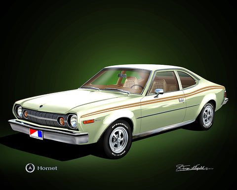 "Fine Art Print, 1974 AMC Hornet, 16""x20"", By Danny Whitfield (8 Body Colors)"