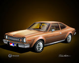 "1974 AMC Hornet 16""x20"" Fine Art Print by Danny Whitfield (8 Body Colors)"
