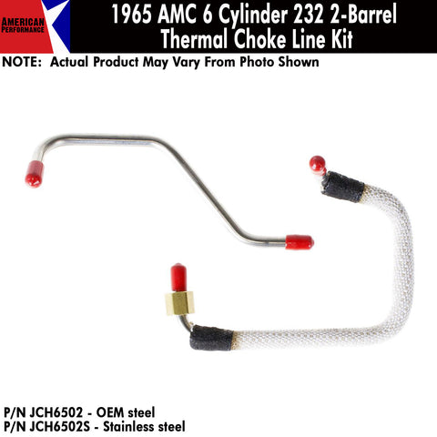 Thermal Choke Lines, 6 Cylinder 232 2-Barrel, 1965 Rambler (OE Steel or Stainless) - AMC Lives