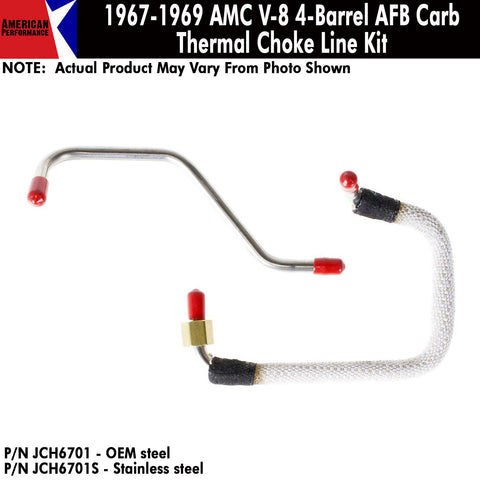 Thermal Choke Lines, V-8 w/4-Barrel AFB Carburetor, 1967-69 AMC (OE Steel or Stainless) - AMC Lives