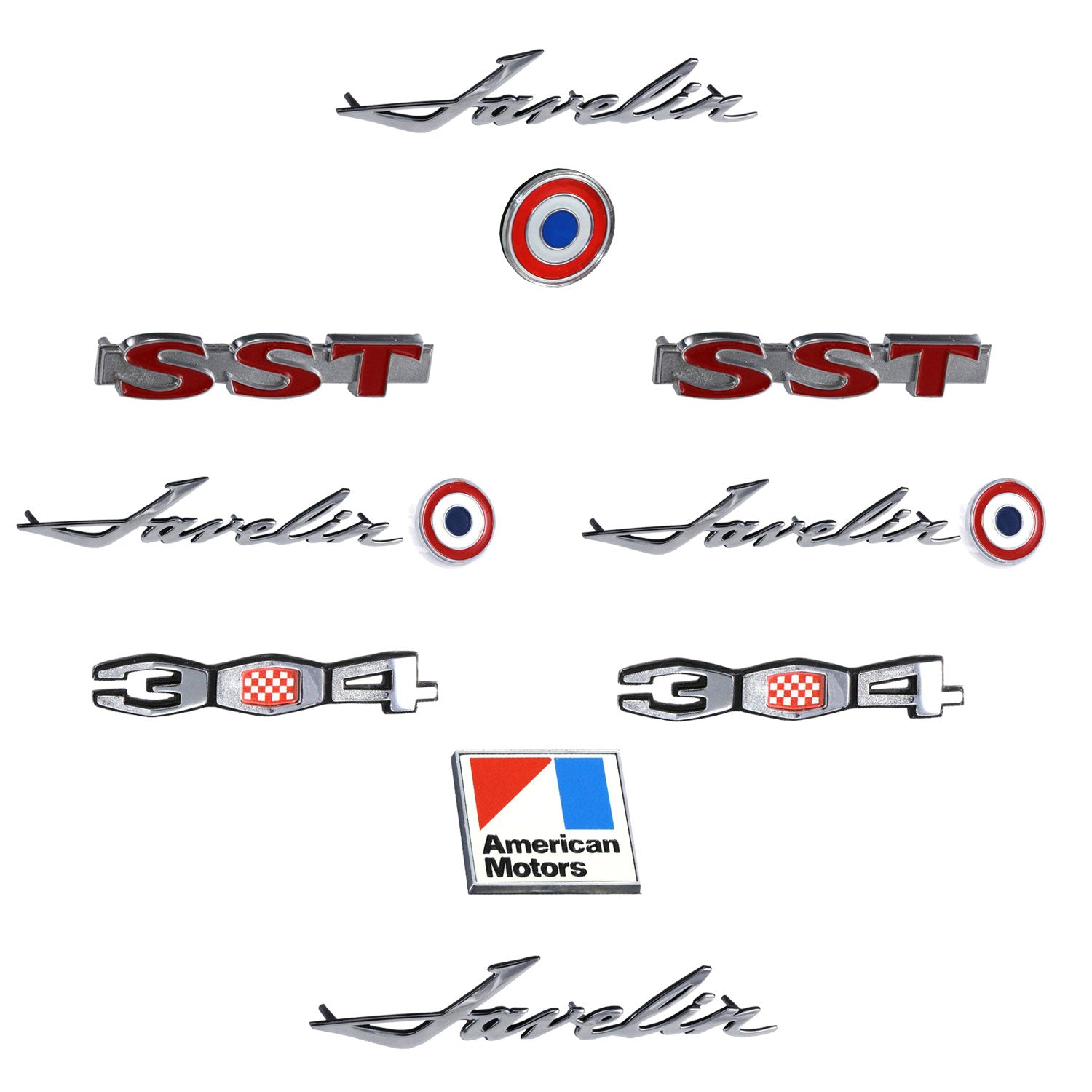 Late 1970 Amc Javelin Sst 304 Complete Exterior Emblem Kit Lives Amx Wiring Diagram