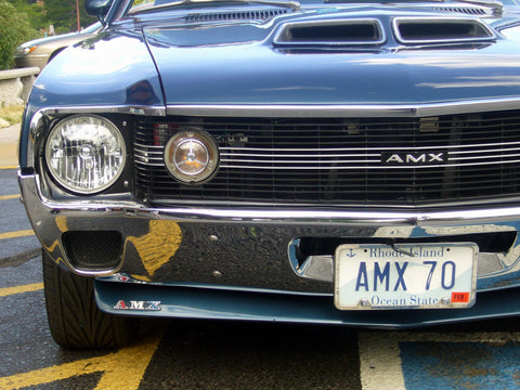 Bezel Kit, Ram Air Hood, Chrome & Black, 1970 AMC Javelin, AMX