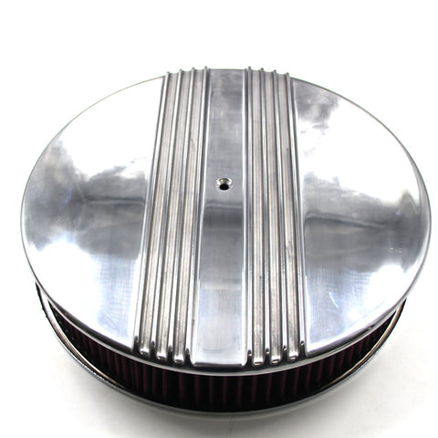Air Cleaner Kit, Polished Finned Aluminum, 1966-91 AMC, Jeep w/V-8
