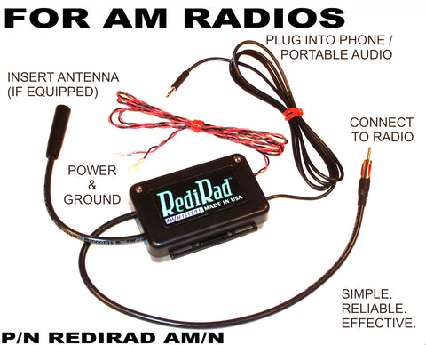 Auxiliary Input Adapter Kit for Factory Radios, AM/N, RediRad, 1956-91 AMC, Jeep, Rambler, International