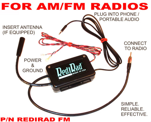 Auxiliary Input Adapter Kit for Factory Radios, AM/FM, RediRad, 1956-91 AMC, Jeep, Rambler, International