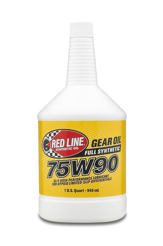 Gear Oil, 75W90, Red Line Synthetic, 1 Quart Bottle (2 Bottles Required) - AMC Lives