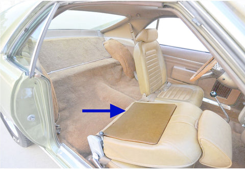 1969 AMC AMX Legendary Auto Interiors Bucket Seatback Panels (4 Colors)