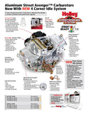 Carburetor, Holley 670 CFM Street Avenger Aluminum, Vacuum Secondaries & Electric Choke, 1966-91 AMC, Rambler, Jeep