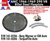 1966-1969 AMC 290 Billet Steel Flexplate - 2 Variations