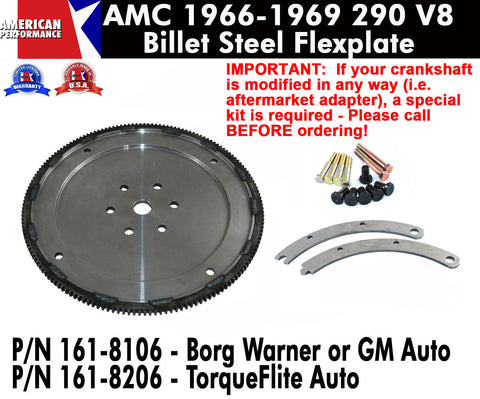 1966-69 AMC 290 Billet Steel Flexplate - 2 Versions