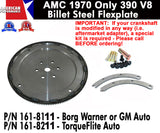 Flexplate, Billet Steel, 1970-Only AMC 390 - 2 Versions