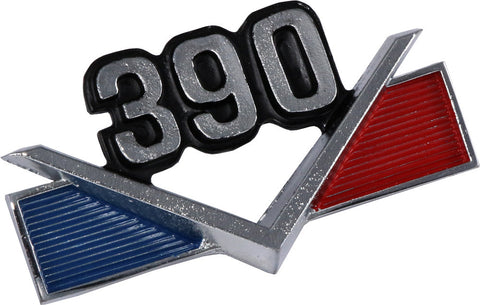 1968-69 AMC 390 V-Shape Fender Emblem - Blue & Red (2 Required)