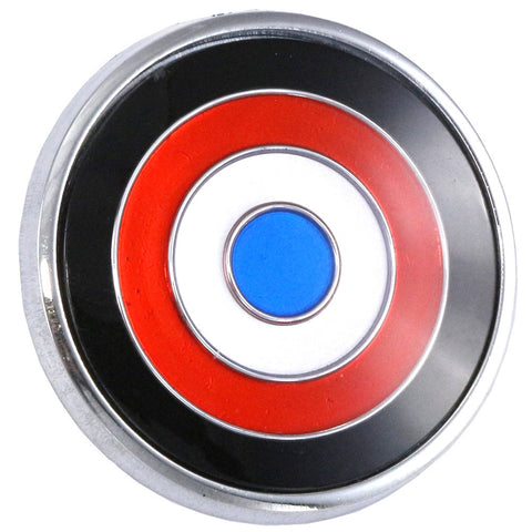 "1970 AMC Javelin 2.25"" x 2.25"" Bullseye Horn Button Emblem (1 Required)"