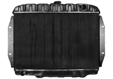 Radiator, Copper Brass, 3-Row Desert Cooler w/4-Row Capacity, OE Style Fit, 1968-71 AMC Javelin, Javelin AMX V-8, Inline 6