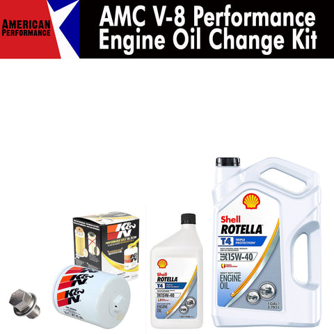 AMC V-8 Performance Engine Oil Change Kit