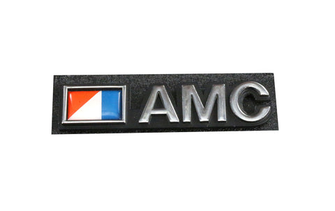 "Deck Lid Emblem, ""AMC Flag"", Stick-On, 1973-88 AMC Cars"