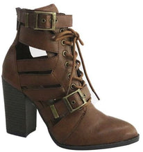 Sutton Pointy Cutout Combat Booties